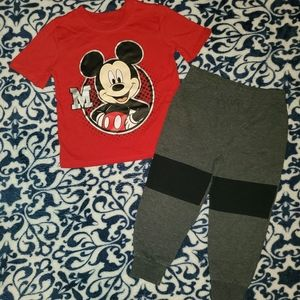 Disney's Baby Boys 2 Piece Mickey Mouse Outfit